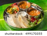 curry and chapati of india | Shutterstock . vector #499170355