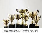 group of trophy on the black... | Shutterstock . vector #499172014