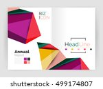 low poly annual report template | Shutterstock .eps vector #499174807