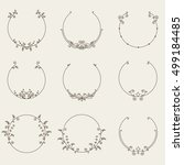 Vector Set Of Border Circle...