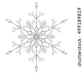 Silver Snowflake Crystal On A...