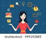 vector illustration of young... | Shutterstock .eps vector #499192885