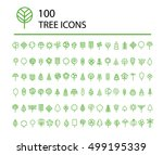 tree icon set. line art vector... | Shutterstock .eps vector #499195339