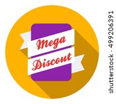 mega discount icon in flat... | Shutterstock .eps vector #499206391