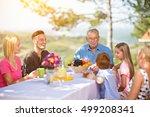family group enjoying outdoor...   Shutterstock . vector #499208341