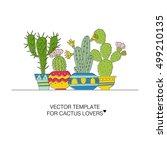 vector illustration of a hand... | Shutterstock .eps vector #499210135
