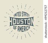 grunge vintage round stamp with ... | Shutterstock .eps vector #499212757