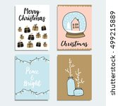 set of christmas  new year... | Shutterstock .eps vector #499215889