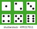 dice  dice icon  casino ... | Shutterstock .eps vector #499217011