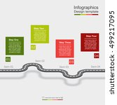 infographic design template... | Shutterstock .eps vector #499217095