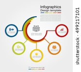 infographic design template... | Shutterstock .eps vector #499217101