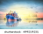 logistics and transportation of ... | Shutterstock . vector #499219231