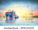 logistics and transportation of ... | Shutterstock . vector #499219231