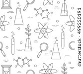 science icon seamless pattern... | Shutterstock . vector #499220191