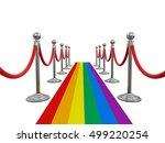 3d illustration. multi colored... | Shutterstock . vector #499220254