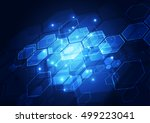 abstract digital technology.... | Shutterstock .eps vector #499223041