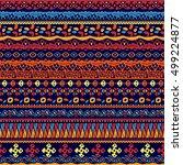 vector seamless tribal style... | Shutterstock .eps vector #499224877
