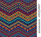 vector african style chevron... | Shutterstock .eps vector #499224907