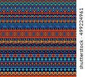 vector seamless tribal style... | Shutterstock .eps vector #499224961