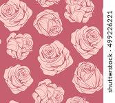 seamless pattern of flowers bud ...   Shutterstock .eps vector #499226221