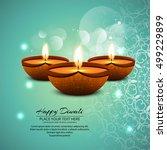 abstarct happy diwali background | Shutterstock .eps vector #499229899