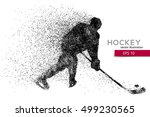silhouette of a hockey player.... | Shutterstock .eps vector #499230565