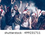 christmas fun. group of... | Shutterstock . vector #499231711