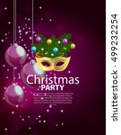 abstract beauty merry christmas ... | Shutterstock .eps vector #499232254