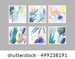 set of creative universal... | Shutterstock .eps vector #499238191