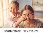portrait of beautiful young... | Shutterstock . vector #499246291