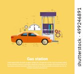 gas petrol station automobile... | Shutterstock .eps vector #499246891