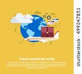 around world travel tourism web ... | Shutterstock .eps vector #499247851