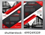 business brochure flyer design... | Shutterstock .eps vector #499249339