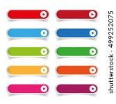 colorful long round buttons | Shutterstock .eps vector #499252075