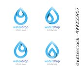 set of water drop abstract... | Shutterstock .eps vector #499255957