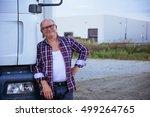 handsome senior man posing in... | Shutterstock . vector #499264765
