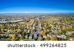 aerial view of residential... | Shutterstock . vector #499264825