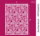 die cut ornamental panel with... | Shutterstock .eps vector #499266631