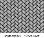 woven fiber seamless pattern.... | Shutterstock .eps vector #499267825
