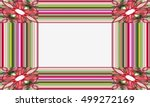 picture frame abstract... | Shutterstock . vector #499272169
