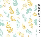 vector gold and blue seamless... | Shutterstock .eps vector #499273951