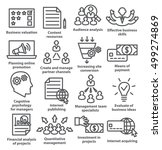 business management icons in...   Shutterstock .eps vector #499274869