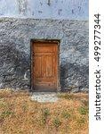 old wooden door. weathered... | Shutterstock . vector #499277344