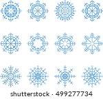 snowflake vector set  | Shutterstock .eps vector #499277734