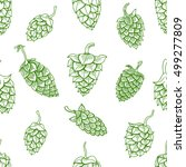 seamless pattern with green... | Shutterstock .eps vector #499277809
