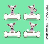 cartoon character dog with big... | Shutterstock .eps vector #499279861