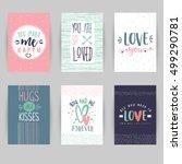 love card banner. valentines... | Shutterstock .eps vector #499290781
