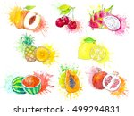 watercolor illustration of... | Shutterstock . vector #499294831