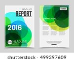 annual report booklet for... | Shutterstock .eps vector #499297609