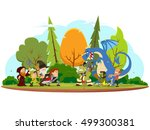 the battle between good and... | Shutterstock .eps vector #499300381